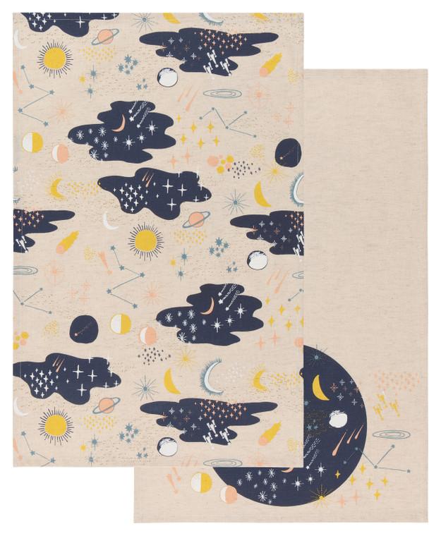 Cosmic Dishtowel Set of 2