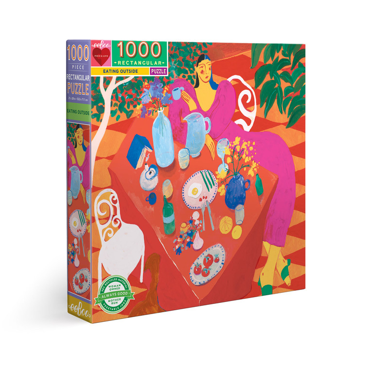 Eating Outside 1000 Piece Rectangle Puzzle