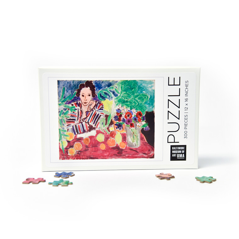BMA 300 Piece Puzzle: Striped Robe, Fruit, and Anemones