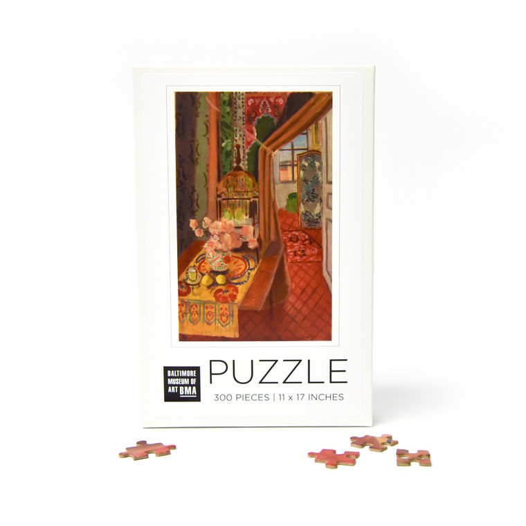 BMA 300 Piece Puzzle: Interior, Flowers and Parakeets