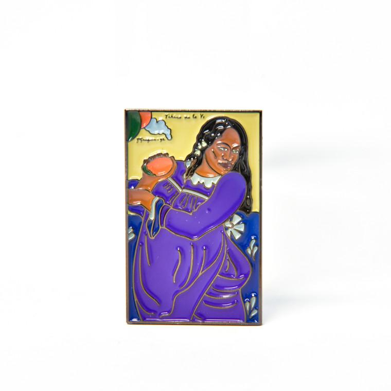 Woman of the Mango Enamel Pin