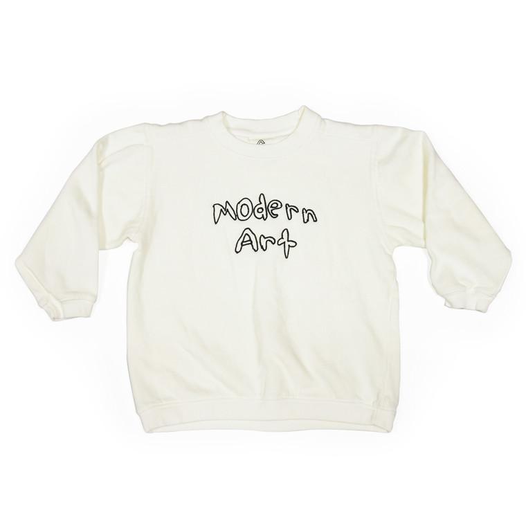 Modern Art Youth Sweatshirt in White