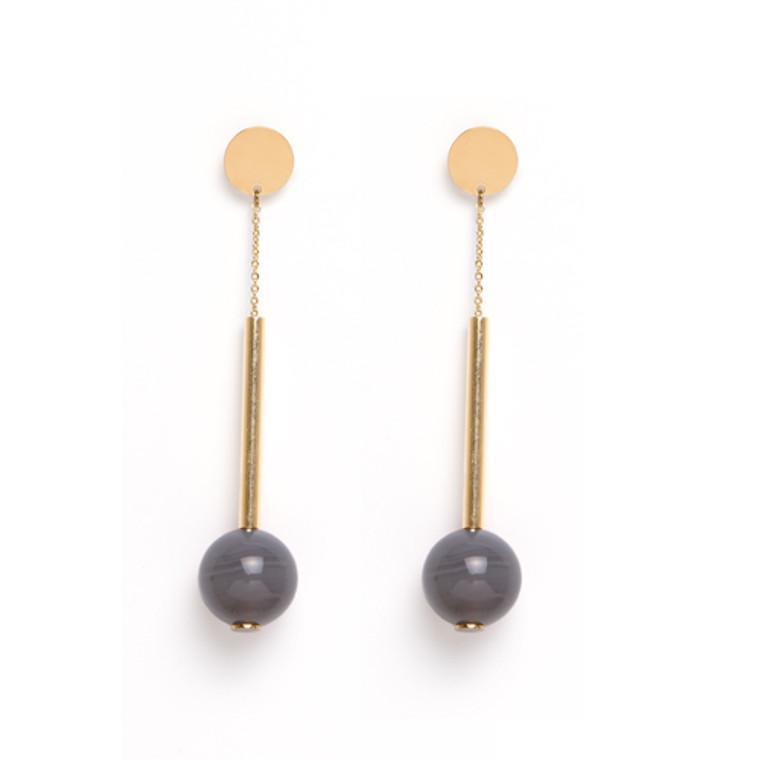 Wolcott Earrings Grey
