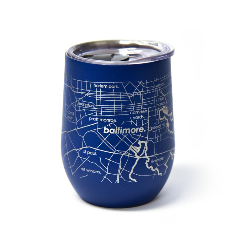 Baltimore Map Wine Tumbler