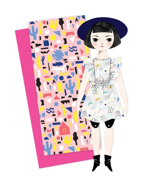 Paper Doll Greeting Card: Olive