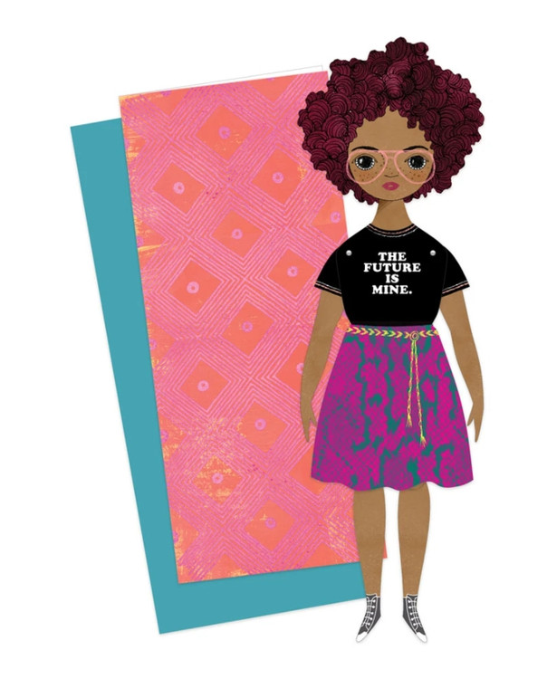 Paper Doll Greeting Card: Willow