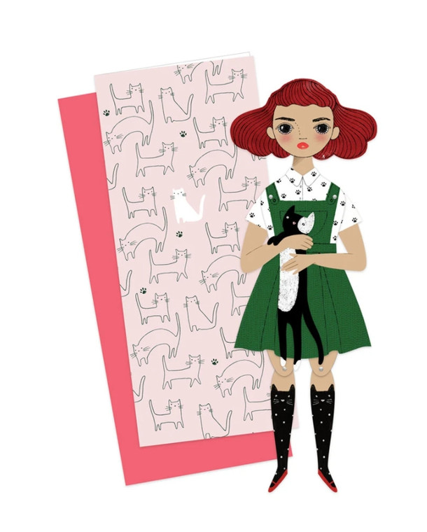Paper Doll Greeting Card: Penelope