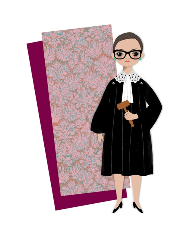 Paper Doll Greeting Card: Ruth