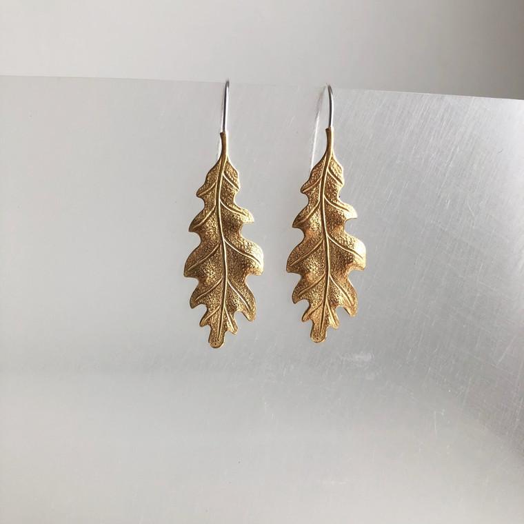 Medium Oak Leaf Earrings