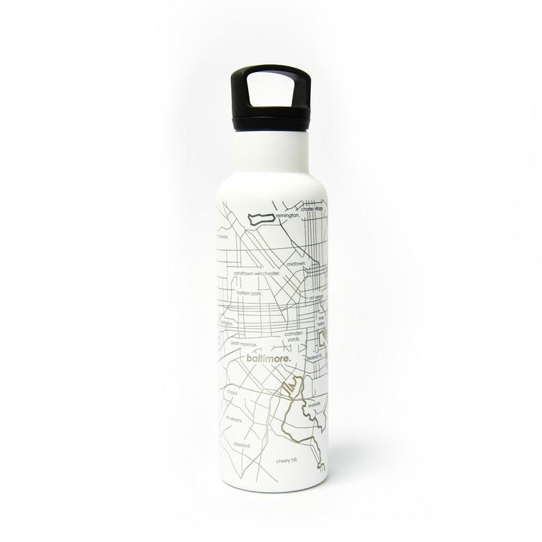 Baltimore Map Hydration Bottle