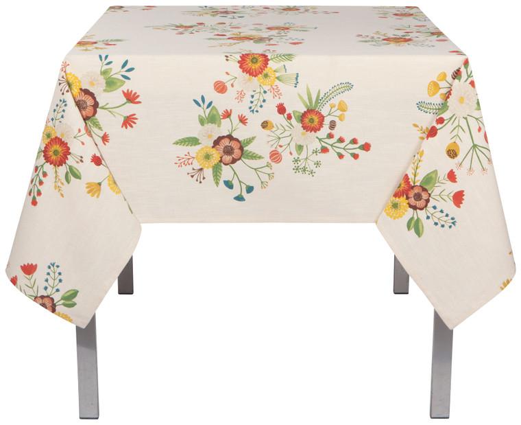 "Goldenbloom Tablecloth 60x60"""