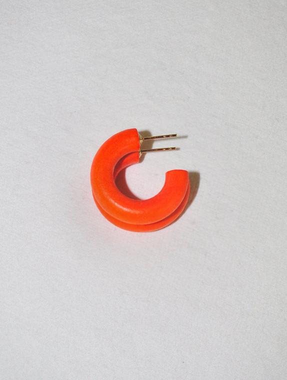 Tangerine Mini Hoop Earrings