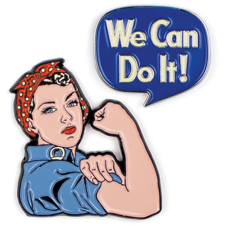 Rosie The Riveter & We Can Do It Pins