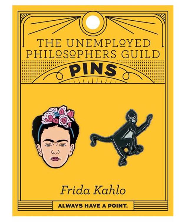 Frida Kahlo & Monkey Pins