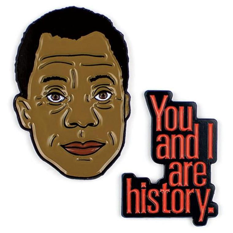 James Baldwin & History Quote Pins