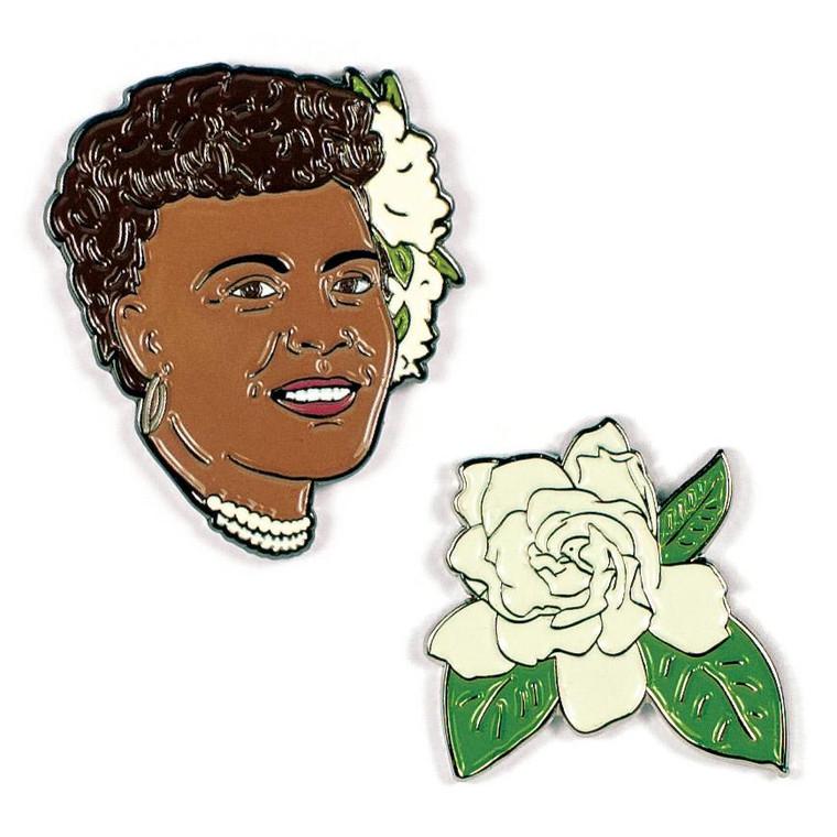 Billie Holiday & Gardenia Pins