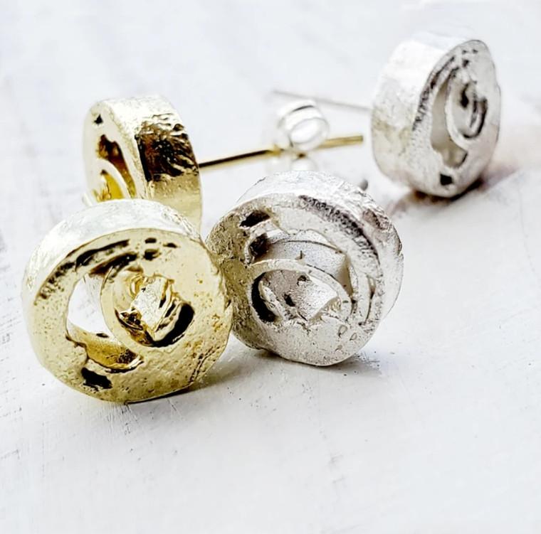 Zeit Earrings- Brass