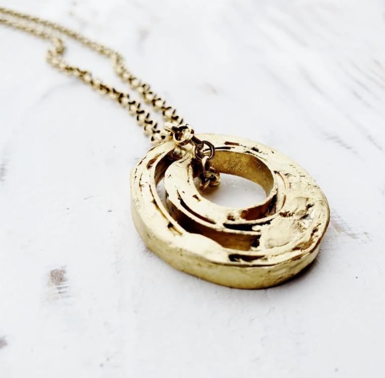 Zeit Necklace- Brass