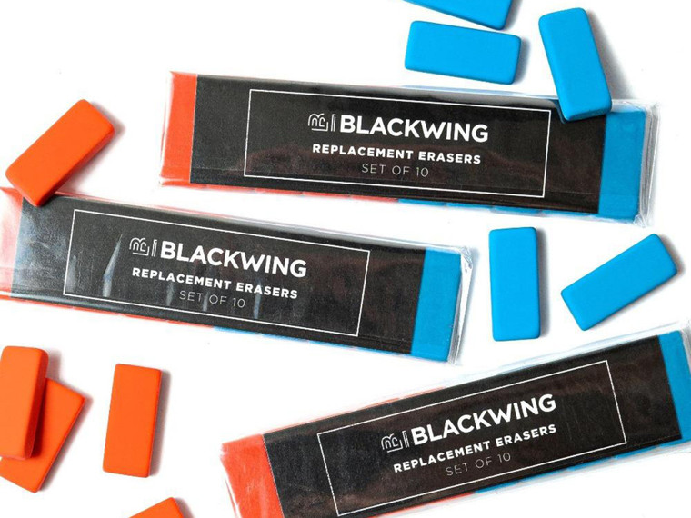 Blackwing Replacement Erasers, Blue & Orange