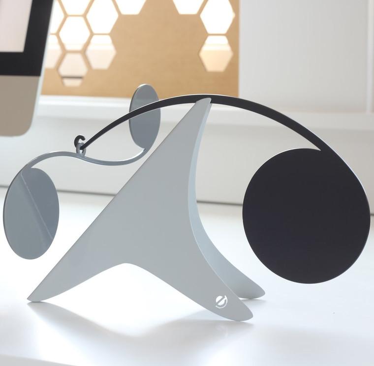 Mosaic Desktop Mobile, Black/White/Gray