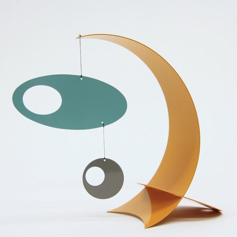 Modern Arc Desktop, Orange/Teal/Gray