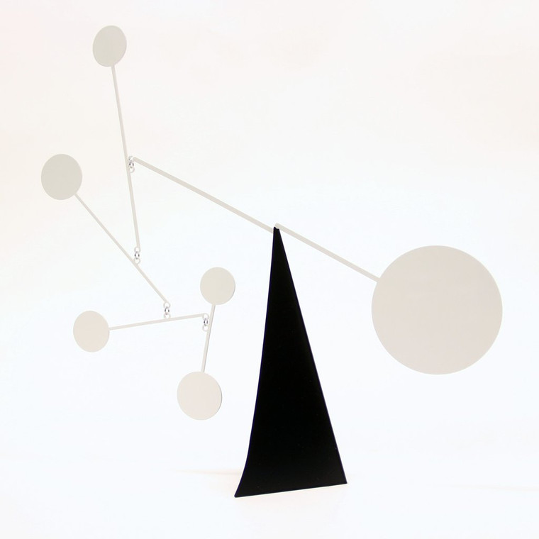 Standing Circles Desktop Mobile, Black/White