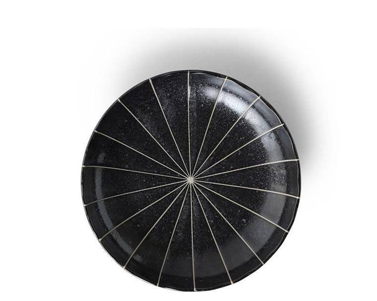 """Kasa Lines Black 6.5"""" Plate"""