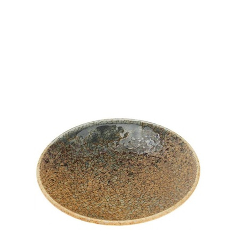 "Blue Sand Crackle Sauce Dish 4"""