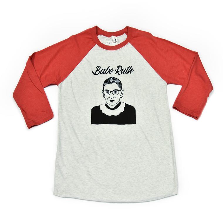 Ruth Bader Ginsburg Baseball Tee-Shirt, Red