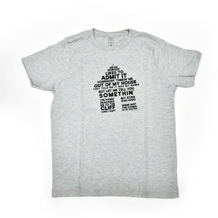 Mark Bradford Out of My House T-Shirt, Grey