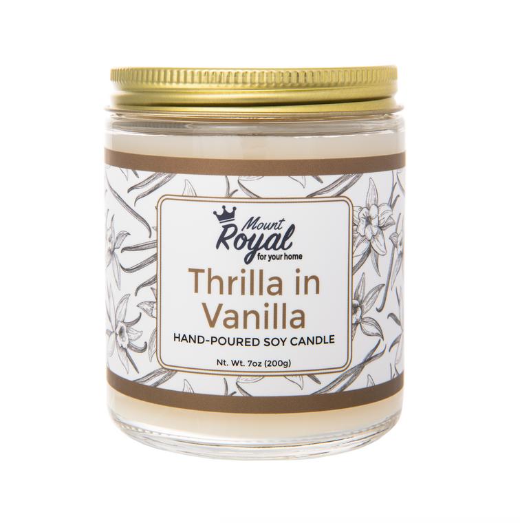 """Thrilla in Vanilla"" Candle"