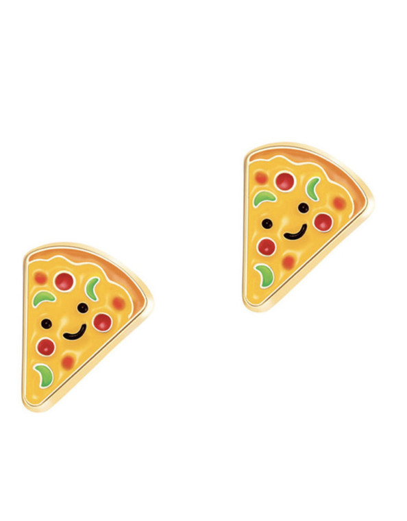 Pizza Enamel Studs