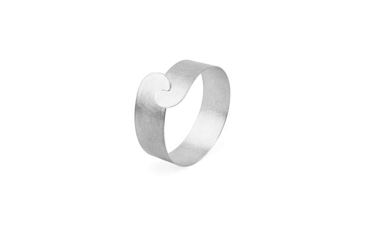 Sterling Silver Half Moon Clasp Bracelet 20mm