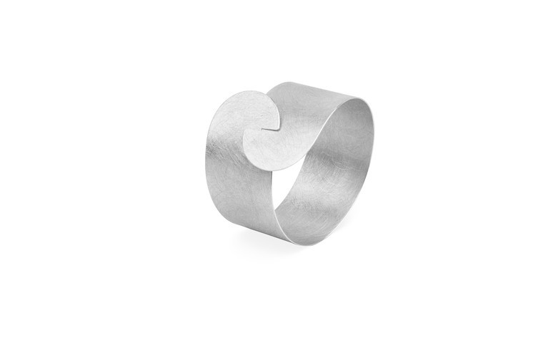 Sterling Silver Large Half Moon Clasp Bracelet