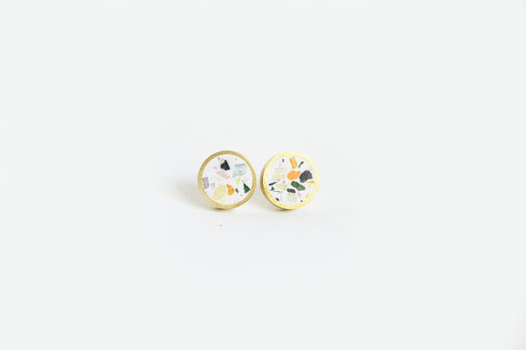 Concrete Confetti Tiny Stud Earrings
