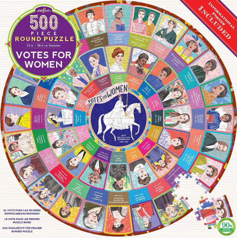 Votes for Women - 500pc Round Jigsaw Puzzle