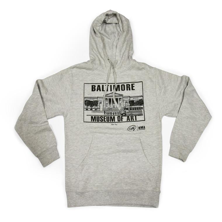 BMA Adult Hooded Sweatshirt - Grey