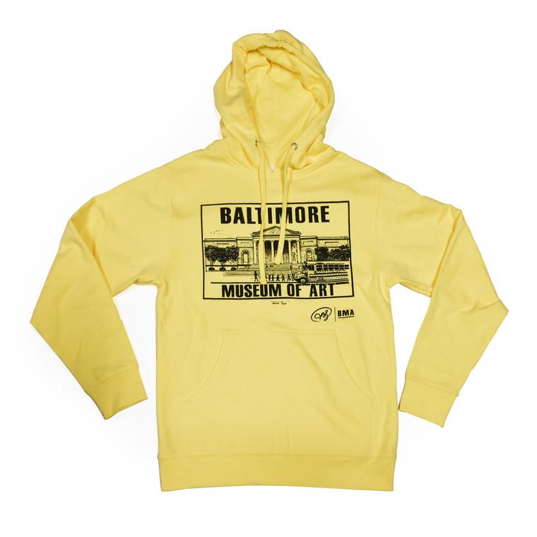 BMA Adult Hooded Sweatshirt - Yellow