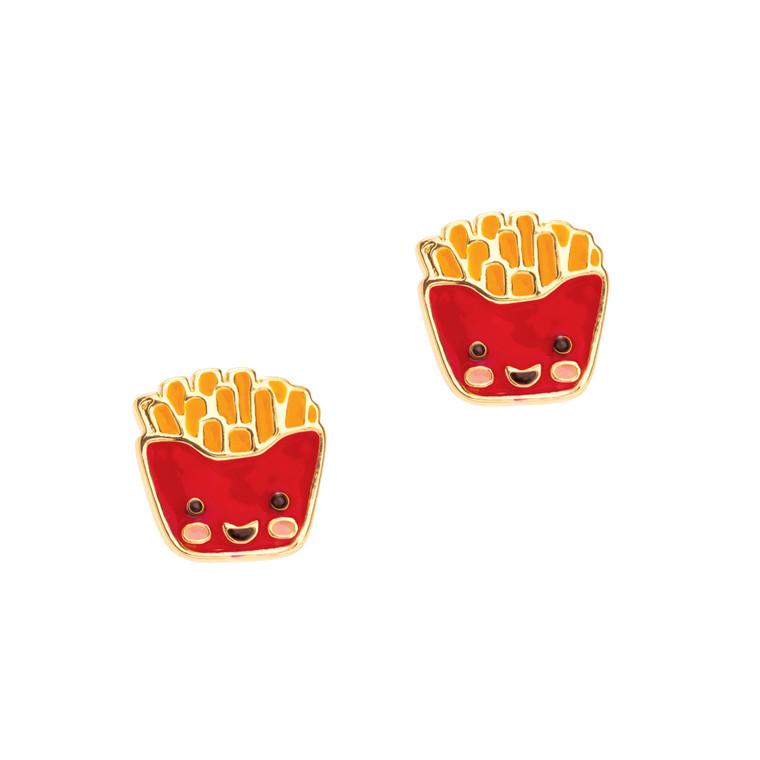 French Fry Enamel Stud Earrings