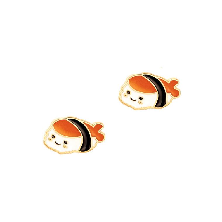 Sushi Enamel Stud Earrings