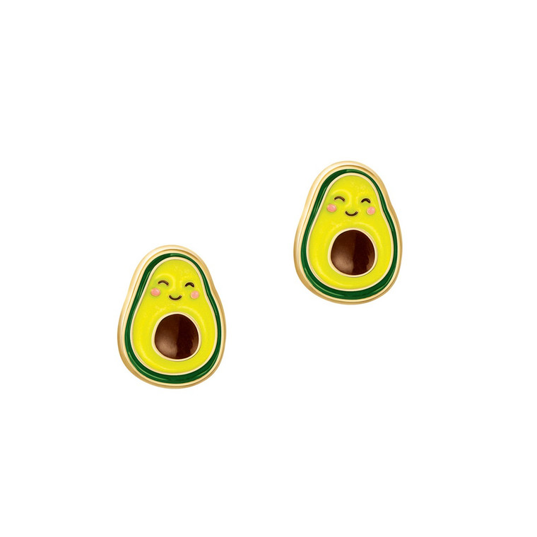 Avocado Enamel Stud Earrings