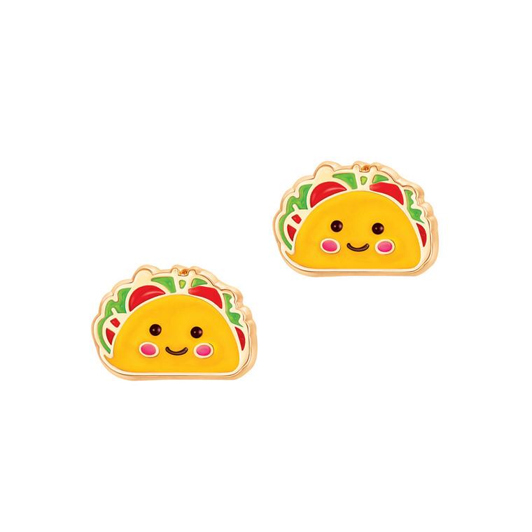 Taco Enamel Stud Earrings