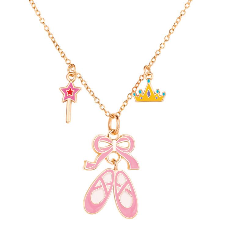 Ballet Shoes Enamel Charm Necklace