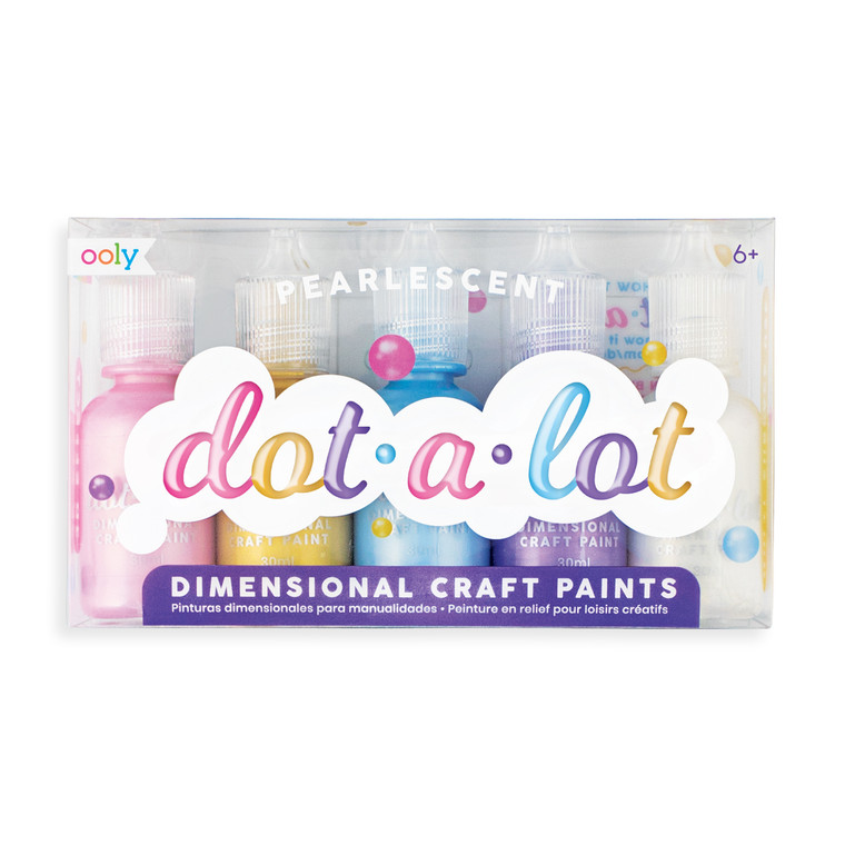 Dot-A-Lot Pearlescent Craft Paint- Set of 5