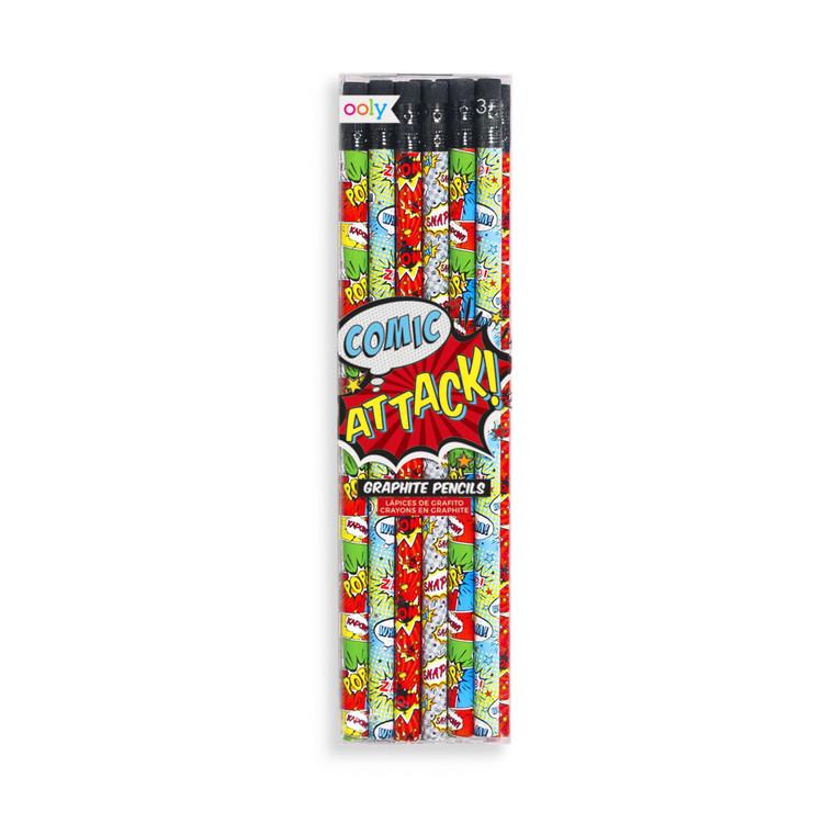 Comic Attack Graphite Pencils- Set of 12