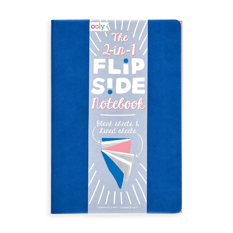 Flipside Double Sided Notebook- Blue/Pink