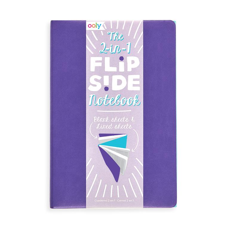 Flipside Double Sided Notebook- Purple/Teal