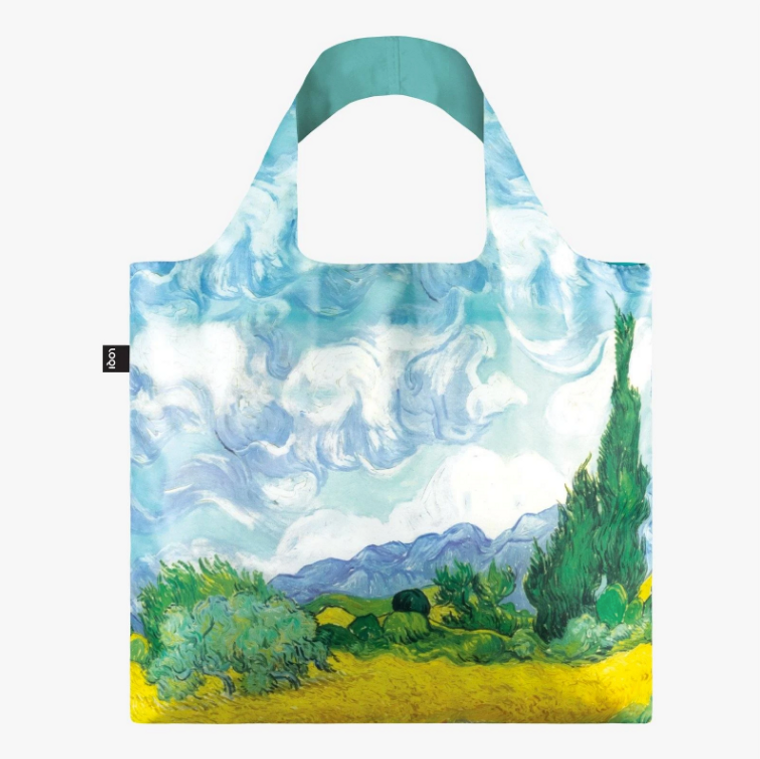 Wheat Field with Cypresses Bag by Loqi