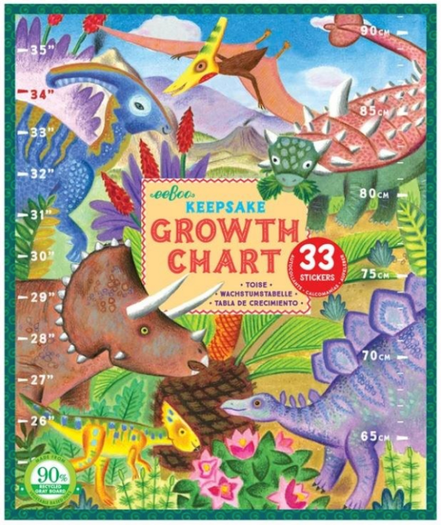 Keepsake Growth Chart- Grow Like a Dinosaur