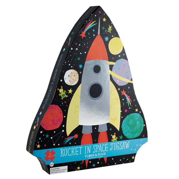 Rocket in Space 40 Piece Jigsaw Puzzle